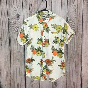 🌕4/$15🌕 Plugg Hawaiian Beige Shirt Large